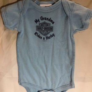 Infant Blue Harley Davidson onesie